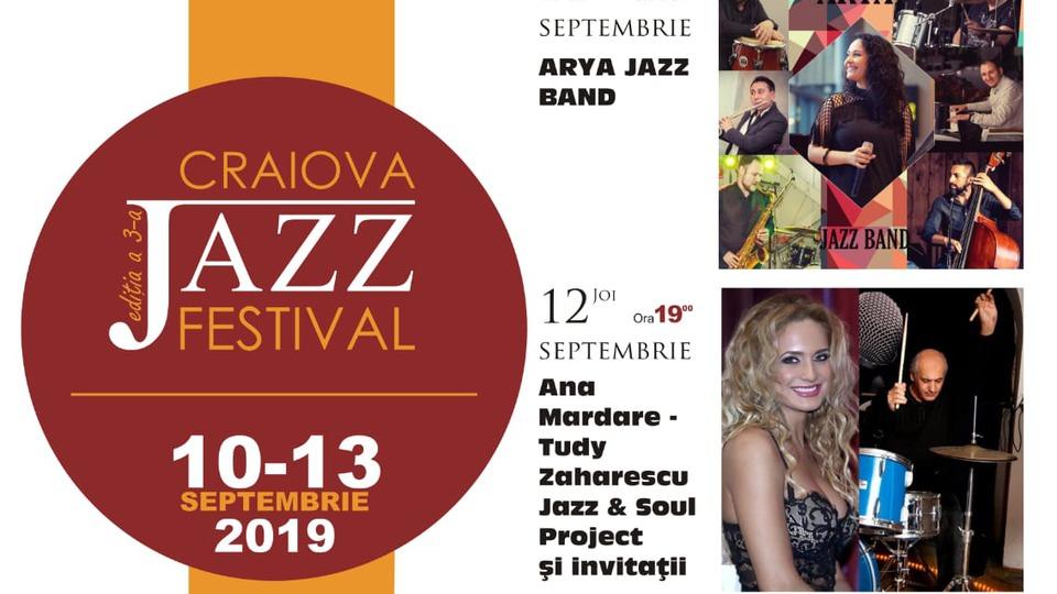 Craiova Jazz Festival, ediţia a III-a, 10 - 13 septembrie 2019