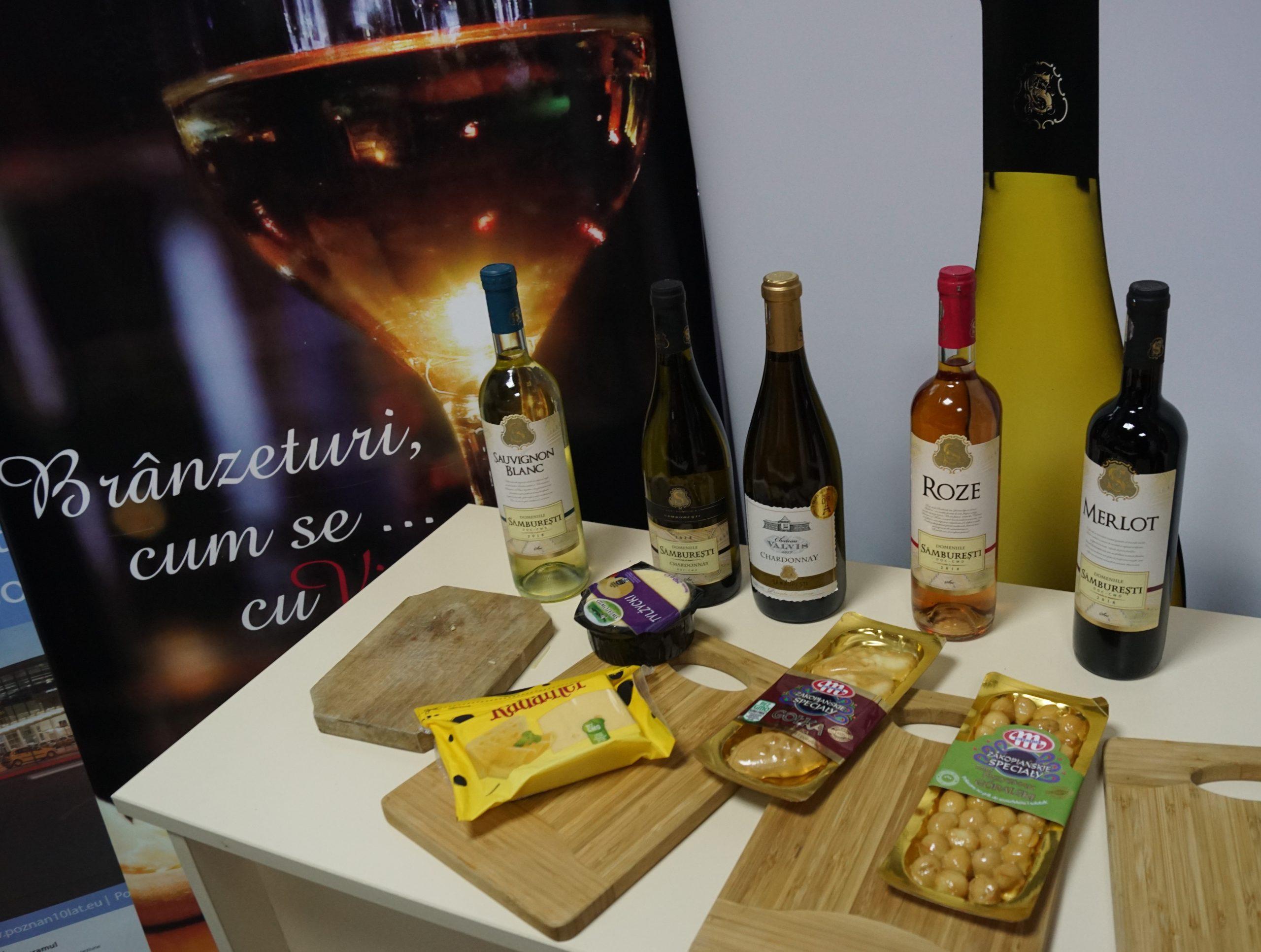 Brânzeturi poloneze și vinurile românești de la Sâmburești